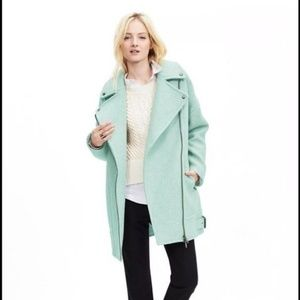 Banana republic mint green wool coat size L